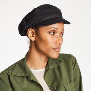 BRIXTON Minimalist Black Montreal Gavroche Unisex Cotton Cap Hat Size XS NWT